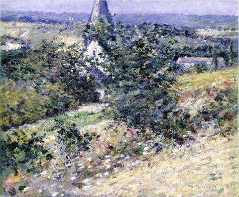 Theodore Robinson Old Church at Giverny - Hand Painted Oil Painting