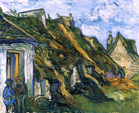 Vincent Van Gogh Old Cottages, Chaponval - Hand Painted Oil Painting