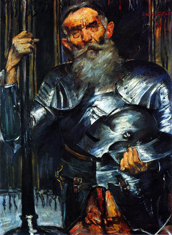 Lovis Corinth Old Man in Armour - Hand Painted Oil Painting