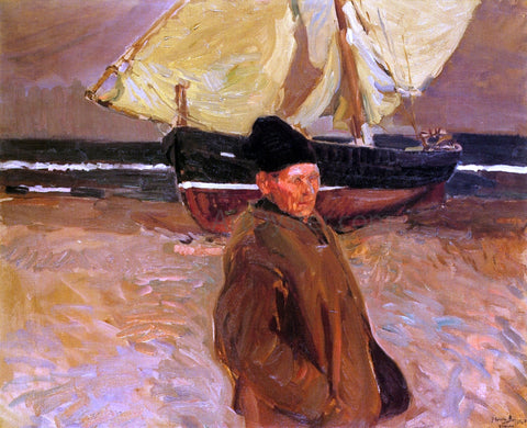 Joaquin Sorolla Y Bastida Old Valencian Fisherman - Hand Painted Oil Painting