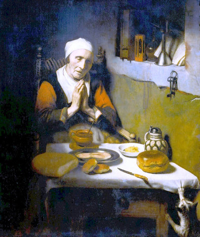 Nicolaes Maes Old Woman at Prayer - Hand Painted Oil Painting