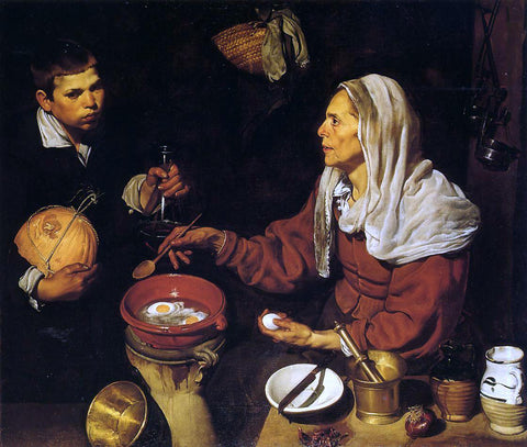 Diego Velazquez Old Woman Poaching Eggs - Hand Painted Oil Painting