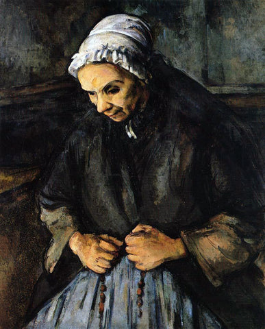 Paul Cezanne Old Woman with a Rosary - Hand Painted Oil Painting