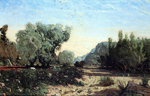 Paul-Camille Guigou Olive Trees - Hand Painted Oil Painting