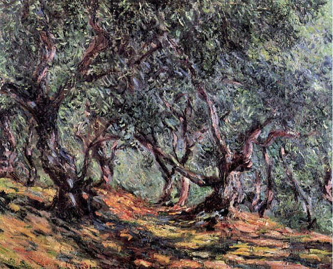 Claude Oscar Monet Olive Trees in Bordighera - Hand Painted Oil Painting