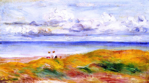Pierre Auguste Renoir On a Cliff - Hand Painted Oil Painting