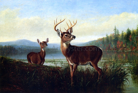 Arthur Fitzwilliam Tait On the Alert - Hand Painted Oil Painting