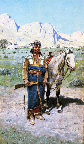 Henry F Farney On the Alert - Hand Painted Oil Painting