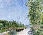 Alfred Sisley On the Banks of the Loing Canal - Hand Painted Oil Painting