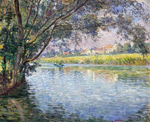 Henri Lebasque On the Banks of the Marne - Hand Painted Oil Painting