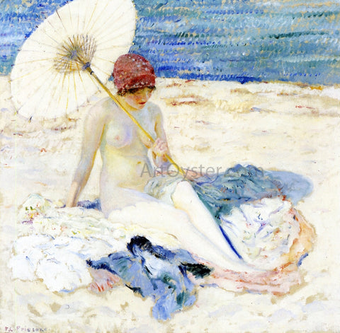 Frederick Carl Frieseke On the Beach - Hand Painted Oil Painting