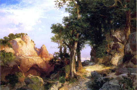 Thomas Moran On the Berry Trail - Grand Canyon of Arizona - Hand Painted Oil Painting