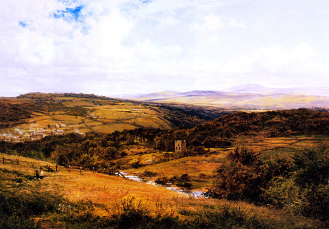 Benjamin Williams Leader On the Borders of Dartmoor - Hand Painted Oil Painting