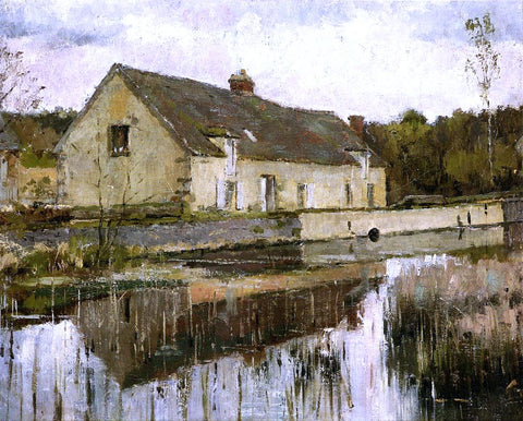 Theodore Robinson On the Canal - Hand Painted Oil Painting