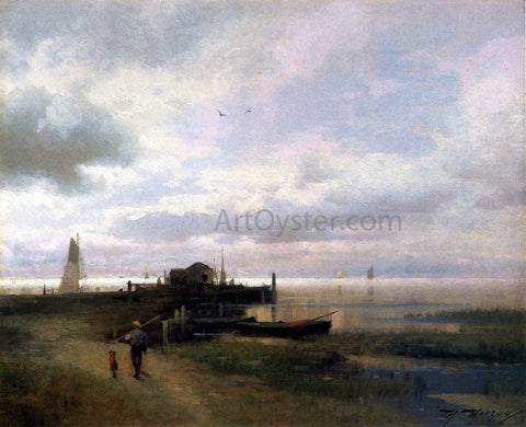 Herman Herzog On the Chesapeake, Oxford - Hand Painted Oil Painting