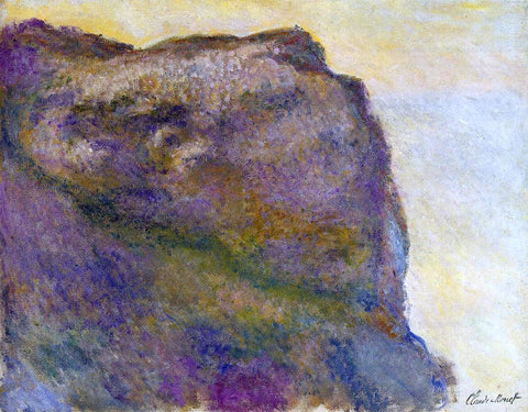 Claude Oscar Monet On the Cliff at Petit Ailly - Hand Painted Oil Painting