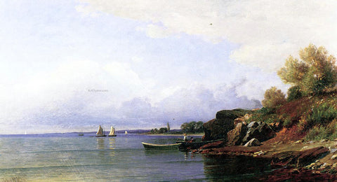 John Ross Key On the Coast near Marblehead - Hand Painted Oil Painting