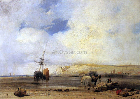 Richard Parkes Bonington On the Coast of Picardy - Hand Painted Oil Painting