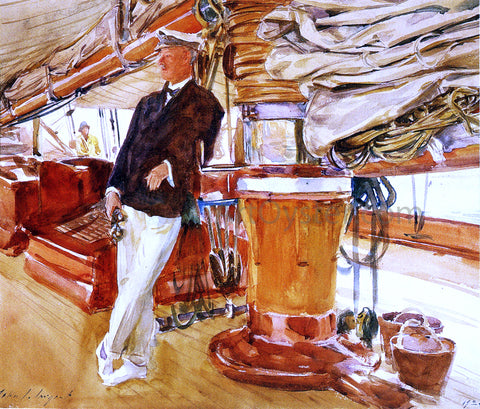 John Singer Sargent On the Deck of the Yacht Constellation - Hand Painted Oil Painting
