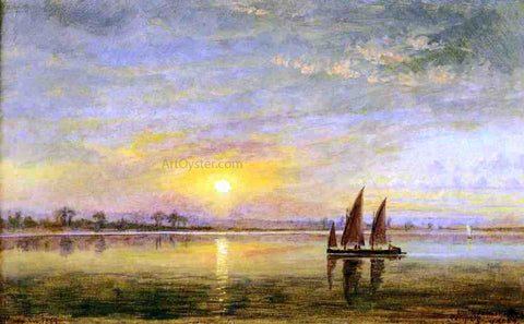 Edward Lamson Henry On the James River, Virginia - Hand Painted Oil Painting