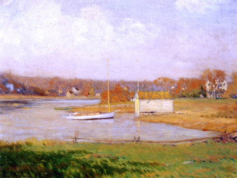Leonard Ochtman On the Mianus River - Hand Painted Oil Painting