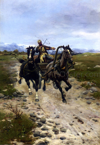 Bohdan Vonn Kleczynski On the Move - Hand Painted Oil Painting