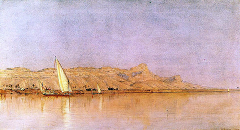 Sanford Robinson Gifford On the Nile, Gebel Shekh Hereedee - Hand Painted Oil Painting