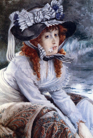 James Tissot On the River - Hand Painted Oil Painting
