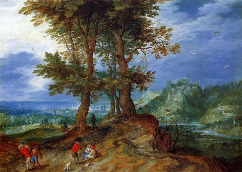 The Elder Jan Bruegel On the Road to Market - Hand Painted Oil Painting