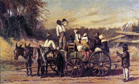 William Aiken Walker On the Road to Natchez - Hand Painted Oil Painting