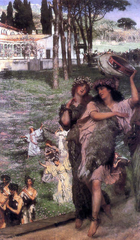 Sir Lawrence Alma-Tadema On the Road to the Temple of Ceres - Hand Painted Oil Painting