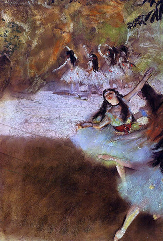 Edgar Degas On the Stage - Hand Painted Oil Painting