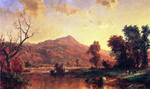 Jasper Francis Cropsey On the Susquehanna - Hand Painted Oil Painting