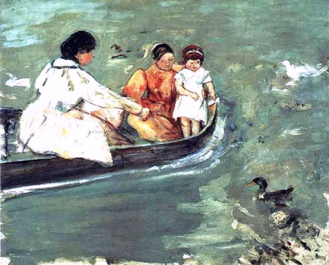Mary Cassatt On the Water - Hand Painted Oil Painting