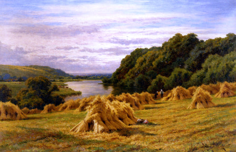 Henry Hillier Parker On the Thames Near Basildon Woods - Hand Painted Oil Painting