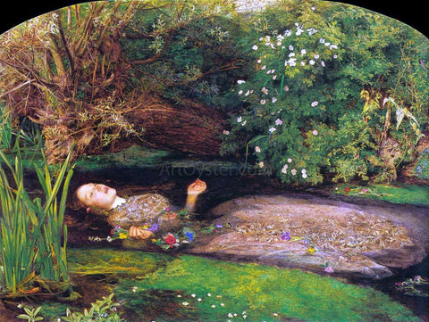 Sir Everett Millais Ophelia - Hand Painted Oil Painting
