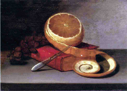 Raphaelle Peale Orange and Book - Hand Painted Oil Painting