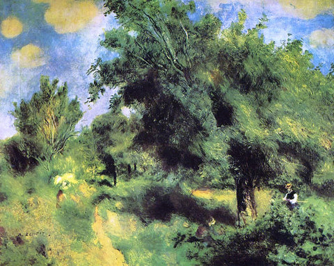 Pierre Auguste Renoir Orchard at Louveciennes -  the English Pear Tree - Hand Painted Oil Painting