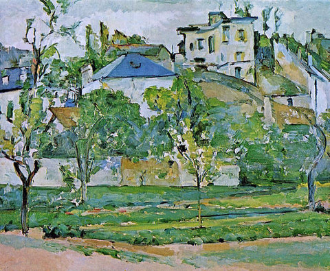 Paul Cezanne Orchard in Pontoise - Hand Painted Oil Painting