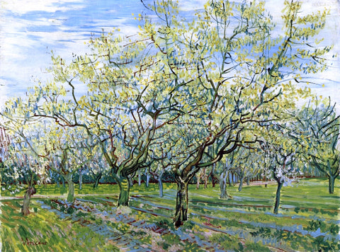 Vincent Van Gogh Orchard with Blossoming Plum Trees - Hand Painted Oil Painting
