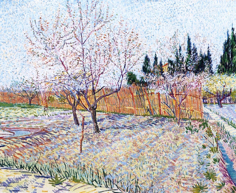 Vincent Van Gogh Orchard with Peach Trees in Blossom - Hand Painted Oil Painting