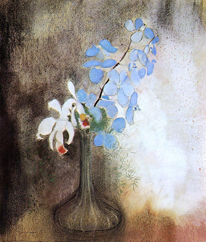 Odilon Redon Orchids - Hand Painted Oil Painting