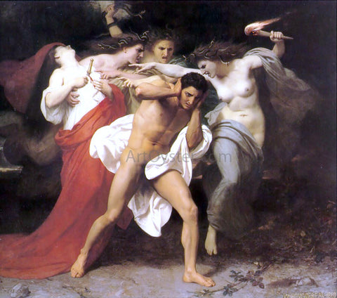 William Adolphe Bouguereau Orestes Pursued by the Furies - Hand Painted Oil Painting