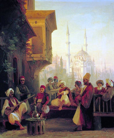 Ivan Constantinovich Aivazovsky Oriental scene - Hand Painted Oil Painting