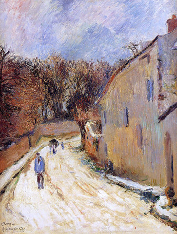 Paul Gauguin Osny, rue de Pontoise, Winter - Hand Painted Oil Painting