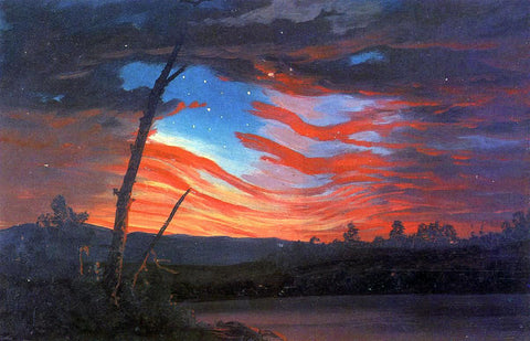Frederic Edwin Church Our Banner in the Sky - Hand Painted Oil Painting