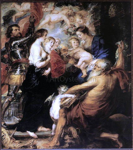Peter Paul Rubens Our Lady with the Saints - Hand Painted Oil Painting