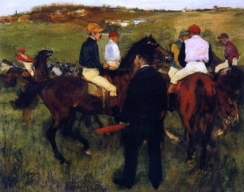 Edgar Degas Out of the Paddock - Hand Painted Oil Painting