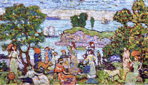 Maurice Prendergast Outer Harbor - Hand Painted Oil Painting