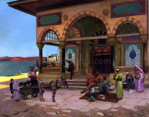 Rudolph Ernst Outside the Selim Tabe, Constantinople - Hand Painted Oil Painting